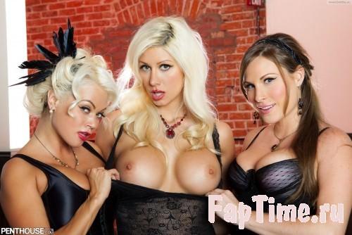 Три сексуальные блондинки с упругими попками