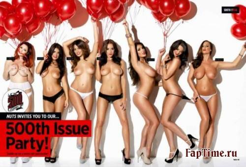 500-й выпуск Nuts c Lucy Pinder, Rosie Jones, Holly Peers...